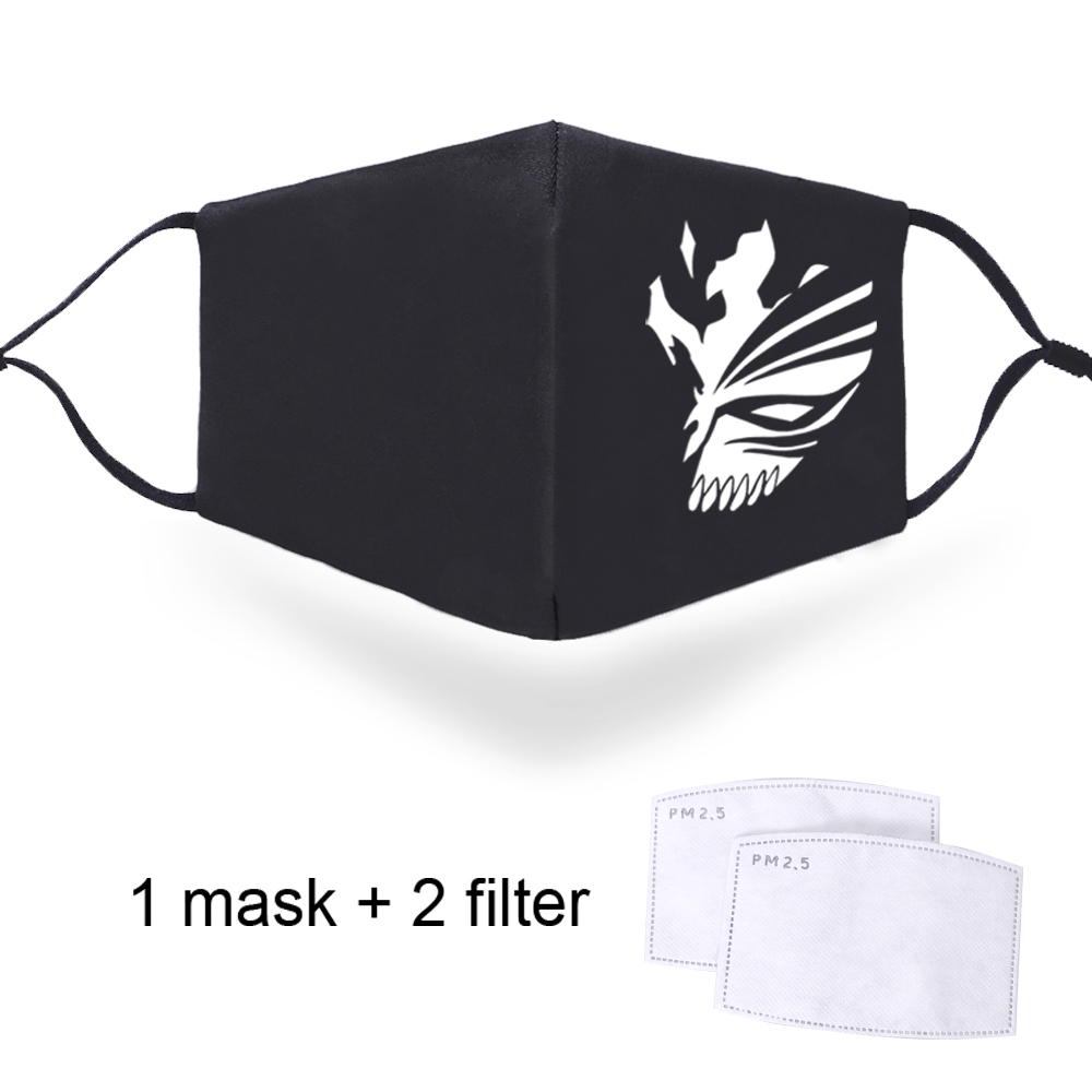 Sword Art Online Print Filters Masks Replaceable PM2.5 Activated Carbon Filter Paper Mouth Face Muffle Protective Anti-dust Mask