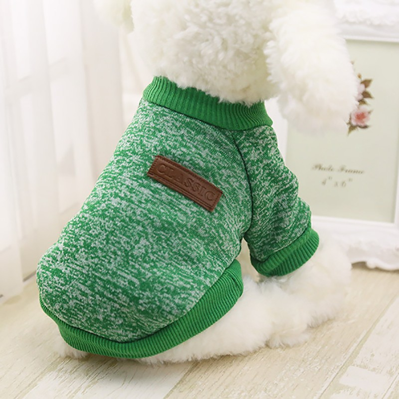 Autumn Winter Warm Dog Clothes For Small Medium Soft Dog Sweater Clothing Winter Chihuahua Clothes Classic Pet dog accessories (1)