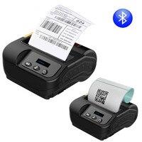 QS thermal Printer 80mm label printer Bluetooth Manual Portable mini Pocket Thermal Barcode Printer