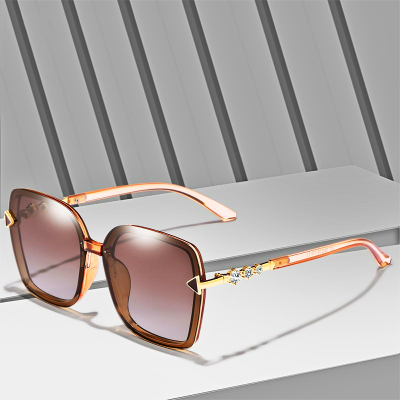 2020New Fashion Polarized Sunglasses Women Square Frame Luxury Brand Gradient Sun Glasses Ladies Eyewear Female Shades Vintage