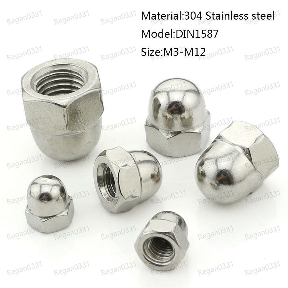 M4 DOME NUTS A2 STAINLESS STEEL 10 PACK
