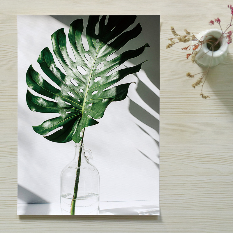 H94806b8c318f434f82aea844d8eef8b8o ART ZONE Nordic Canvas Painting Modern Prints Plant Leaf Art Posters Prints Green Art Wall Pictures Living Room Unframed Poster