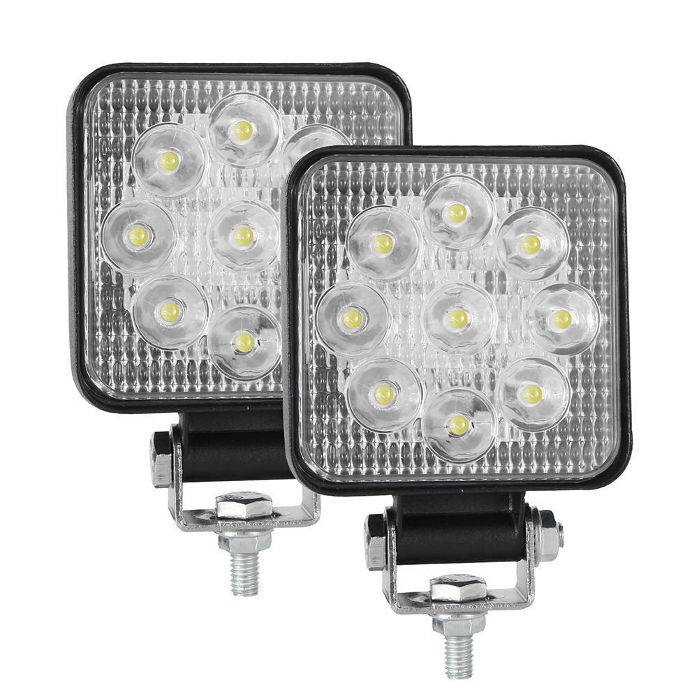 2 шт. 10-30 в 6000 К 48 Вт Автомобильный светодиодный рабочий светильник мини 3 дюйма девять шариков квадратная лампа внедорожные Автомобильные фа...