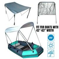 2 arco bimini superior 600d impermeável barco cobertura tenda iate surf caiaque canoa pára sol capa 160x110x120cm com tubos/bota/ferragem|Capa p/ barco|Automóveis e motos -