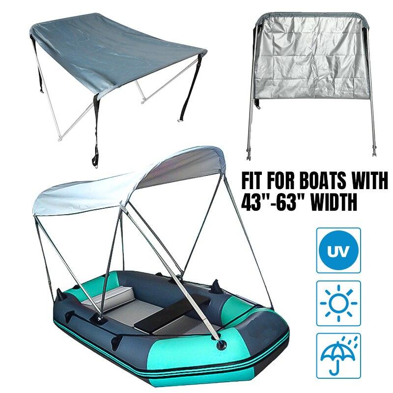 Couverture imperméable de parasol de canoë de Kayak de surf de Yacht de tente de couverture de bateau du dessus 600D de Bimini 2 d'arc 160x110x120cm avec des Tubes/botte/matériel