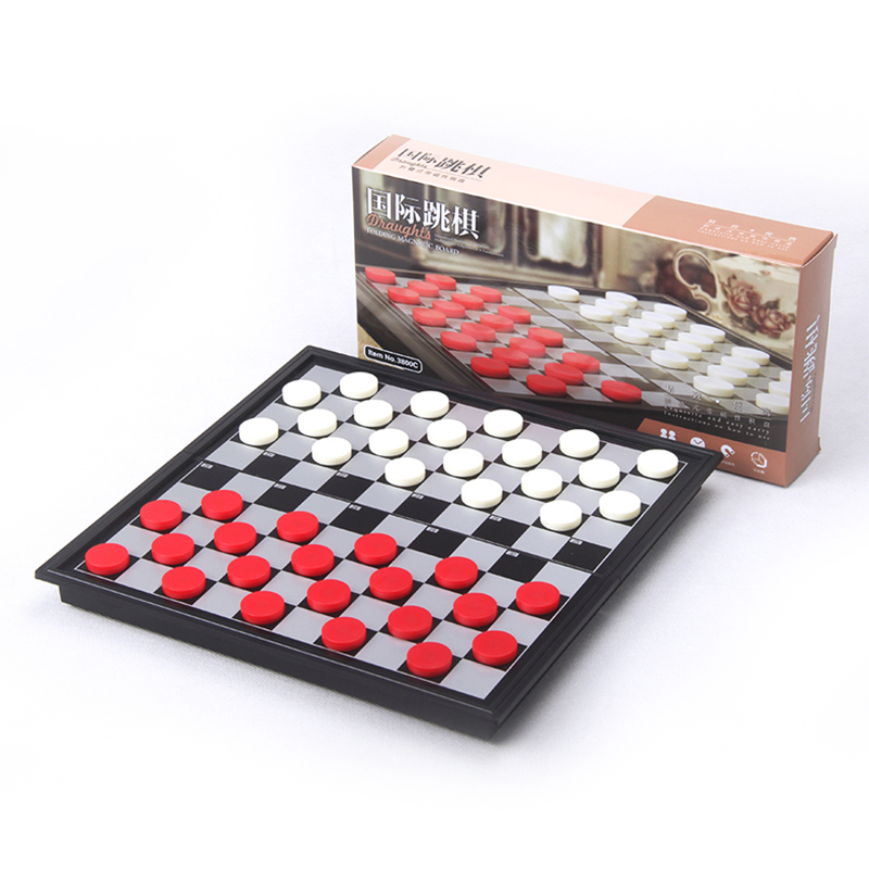 International Chess Set Checkers Magnetic Folding Chess Board Pieces Backgammon Travel Board Games Chessboard