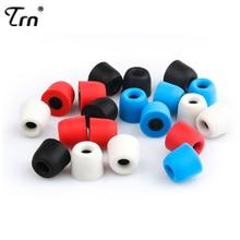 Soft  4Pair TRN Earphone Memory Cotton Earmuffs Chronic Rebound Earplugs PU Sponge Earmuff V80 V20 V10