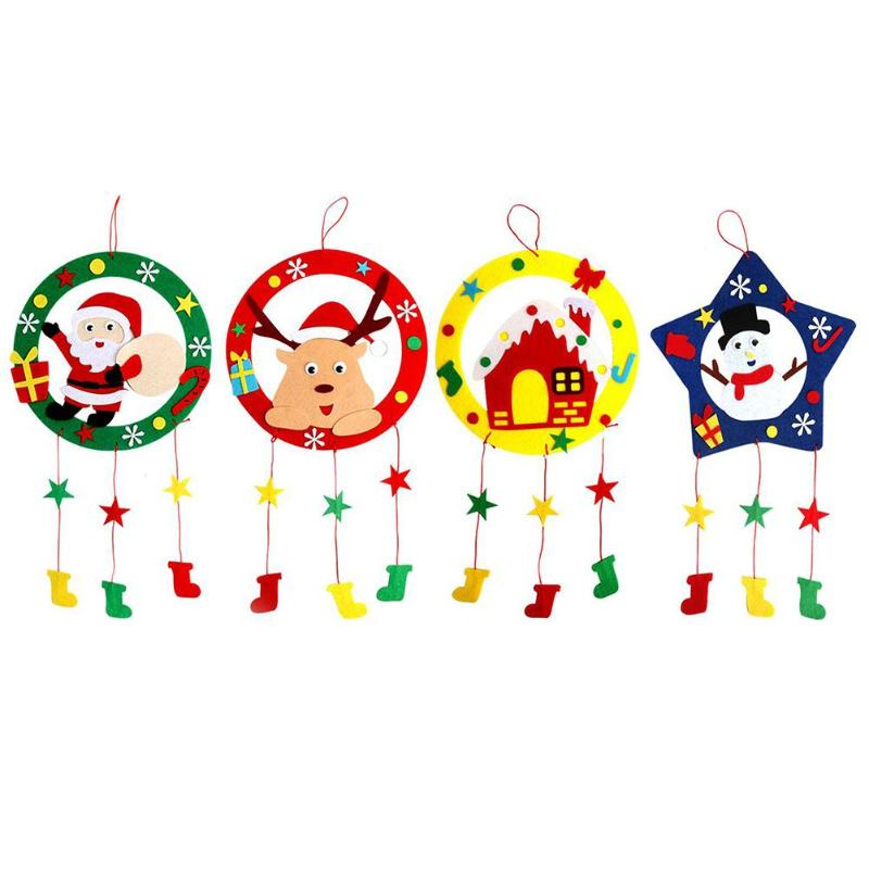 Weaving Garland Kindergarten DIY Handmade Hanging Garland American Country Christmas Decoration Self-enhancement Funny