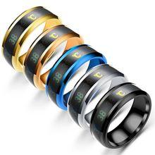 Водонепроницаемый температурный чувствительный кольцевой браслет умный кольцевой палец носить Ch карта памяти
