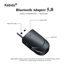 kebidu USB Bluetooth Receiver Transmitters 5.0 Wireless Audio Music Stereo adapter Dongle with Switch Mode for Bluetooth Speaker