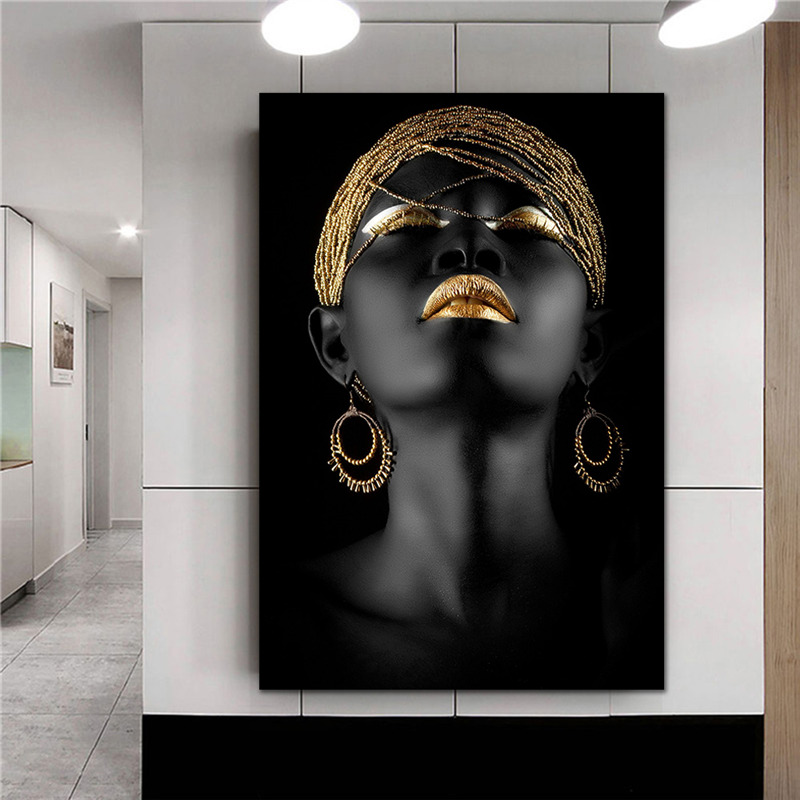 Africa Black Art Canvas Woman Oil Painting Printed Canvas Posters Prints Modern Big Size Wall Art Pictures Canvas Posters Prints|Painting & Calligraphy| |  - title=
