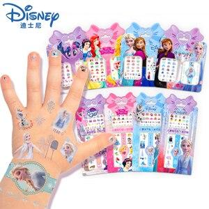 Cartoon Frozen 2 Elsa i Anna makijaż zabawki naklejki do paznokci Disney śnieżka księżniczka Sophia Pony dzieci wodoodporna naklejka tatuaż