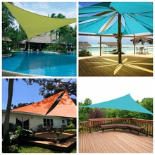 Helpful Waterproof Sun Shelter Sunshade Outdoor Sun Sail Canopy Garden Patio Pool Shade Sail Awning Camping Shade Cloth Large 5 sunshade canopy sun shade sail uv block sun shade sail for patio outdoor garden patio top cover