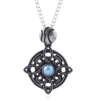 The Elder Scrolls Amulet of Mara Necklace Oblivion Morrowind Amulet Pendant Necklace For Women Men Fashion Jewelry Gift image