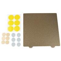 HOT 3D Drucker Heißer Bett Gold Doppel Schicht Textur Pei Pulver 235Mm Stahl Platte + 6x Magnetische Block für Creality ender 3  ender 3 P-in 3D Druckerteile & Zubehör aus Computer und Büro bei