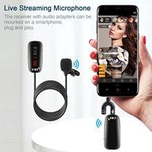 Mini micrófono Inalámbrico UHF Lavalier para grabación en vivo, 50UHF, para videocámara, teléfono inteligente, portátil, rango de 50m