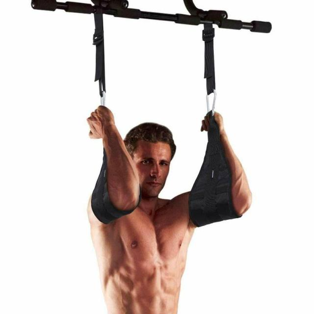 Leg Raises Pull Up Padded Hanging Ab Straps Hanging Sling Straps with Quick Locks Carabiner for Abs Crunch Home /& Gym Fitness IFOYO Ab Straps for Pull Up Bar