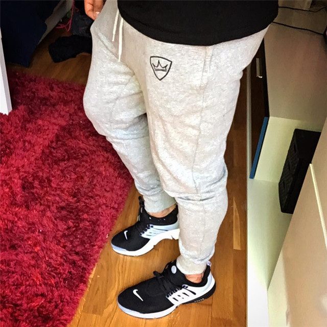 2019 Fashion Men Gyms Pants Joggers Fitness Casual Long Pants Men Workout Skinny Sweatpants Jogger Tracksuit Cotton Trousers 6
