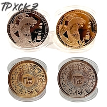 1Pcs 2022 New Year Coin Chinese Twelve Zodiac Tiger Commemorative Coins For Collection Gifts