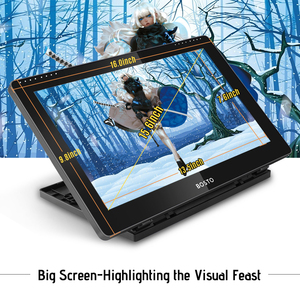 Image 3 - BOSTO BT 16HD IPS HD Graphic Monitor Drawing Digital Tablet Passive Technology USB Powered 8192 Pressure Level Pen Touchscreen