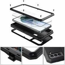 Custodia protettiva militare in metallo per armature di lusso per Samsung Galaxy Note 20 10 9 8 S20 S21 Ultra S8 S9 S10 Plus S10e S7 Cover antiurto