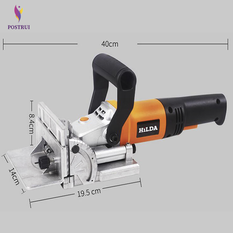 760W Biscuit Jointer Electric Power Tool Authentic Woodworking Tenoning Machine Biscuit Machine Puzzle Machine