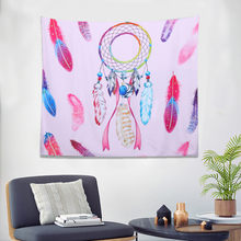 Tapestry Wall Hanging Pink Dream Catcher Style Art Home Wall Hanging Tapestry Festival Bedspread Wall Shawl Mat Carpet Home(China)