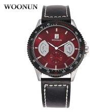 Красный циферблат часы мода мужские спортивные часы кожа ремешок кварц наручные часы мальчики часы красный часы мужские ветидо повседневные Aliexpress