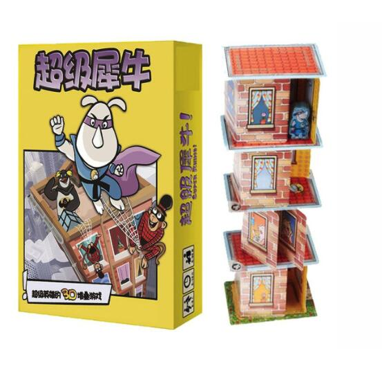 New Super Rhino Board Game 2-5 Players Funny Cards Games High Quality Paper Game For Party/Family