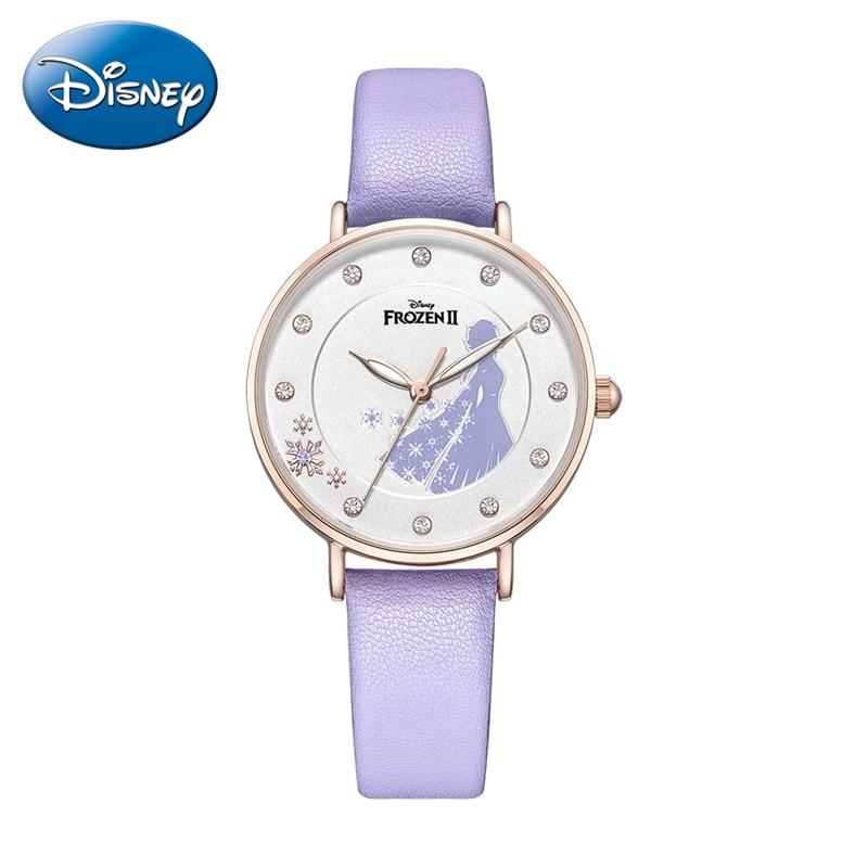 2020 Frozen Ⅱ Princess Luxury Rhinestone Jewelry Cute Girl Fashion Trendy Watch Teen Women Leather Quartz Watches Ladies Clocks