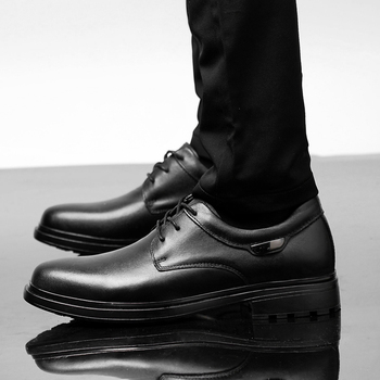 Fashion dress Shoes Men Footwear Soft genuine Leather Casual Mens Shoes British Style Brand Male Business Shoes Black white