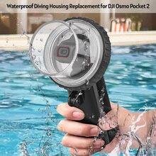 ספורט מצלמה עמיד למים מקרה דיור צלילה מתחת למים 60M עם שרוך החלפת DJI אוסמו כיס 2 פעולה מצלמה