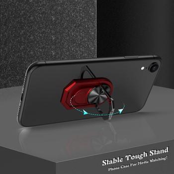 Dla androida Apple telefon komórkowy Tablet może obracać się o 360 ° wielofunkcyjny pierścień uchwyt na telefon komórkowy uniwersalny uchwyt samochodowy tanie i dobre opinie centechia Brak funkcji CN (pochodzenie) Multipurpose Holder Finger ring phone holder + Car phone holder metal + silicone