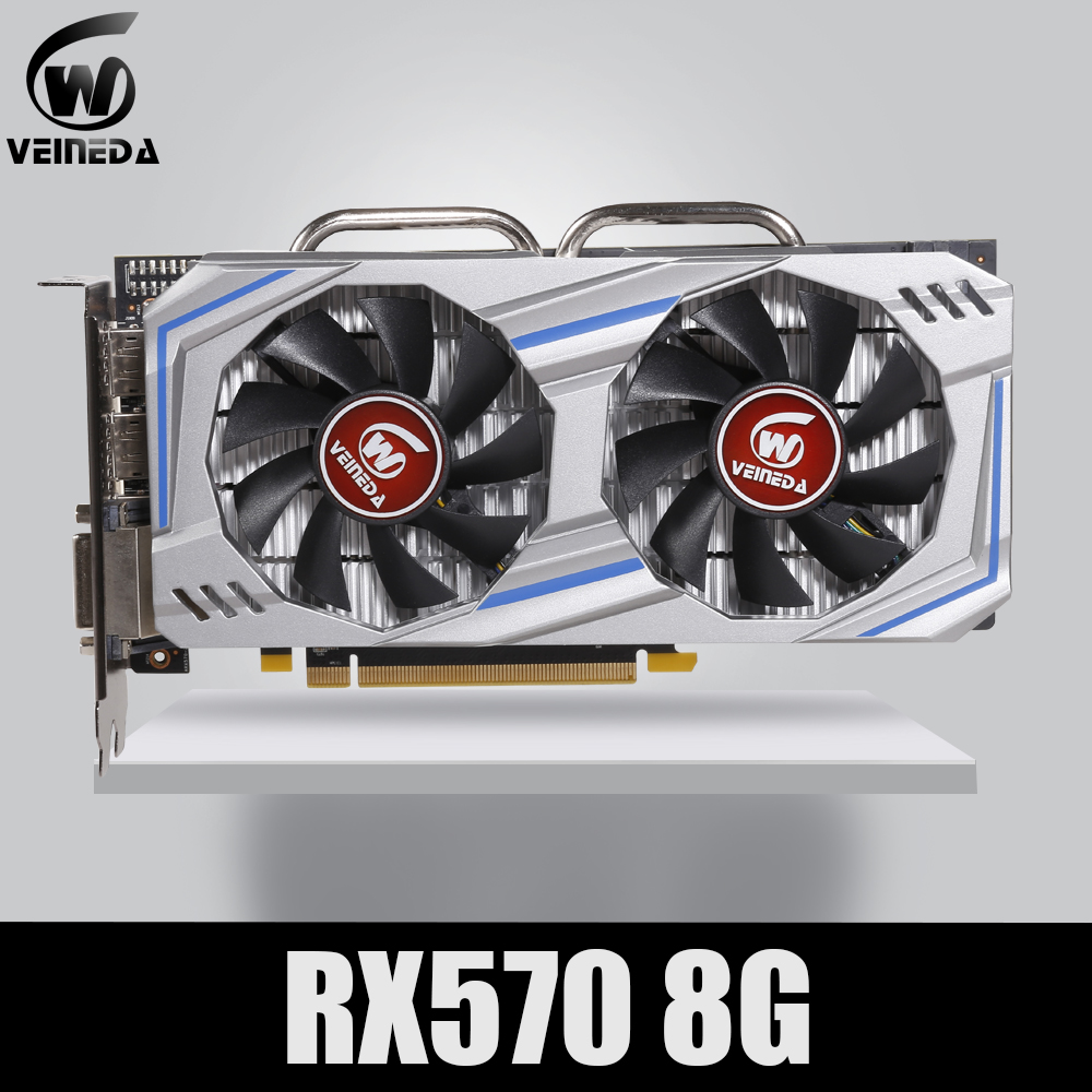 Video Card RX 570 DirectX 12 8GB 256-Bit GDDR5 rx 570 PCI Express 3.0 x16 DP HDMI DVI Ready for AMD Graphics Card geforce games image