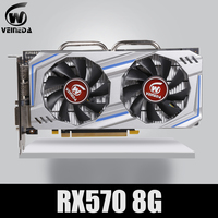 Video Card RX 570 DirectX 12 8GB 256 Bit GDDR5 rx 570 PCI Express 3.0 x16 DP HDMI DVI Ready for AMD Graphics Card geforce games