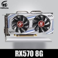 Video Card RX 570 DirectX 12 8GB 256 Bit GDDR5 rx 570 PCI Express 3.0 x16 DP HDMI DVI Ready for AMD Graphics Card geforce games