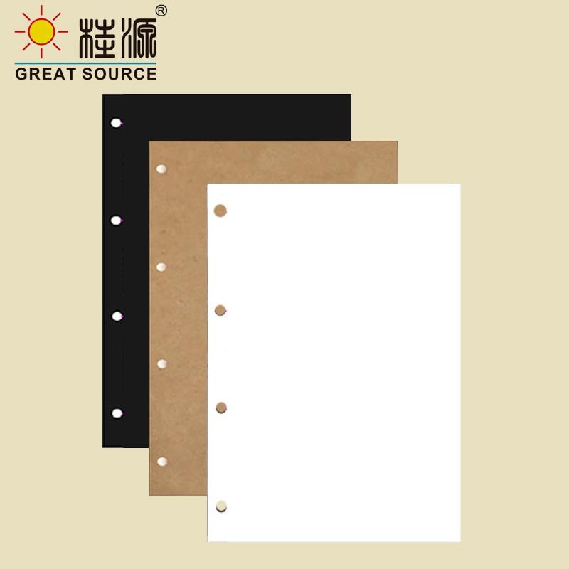 DIY Photo Leaf Board 300g Black Kraft White Card Board Photo Corner Stickers For 4 Ring Binder W21*29cm(8.27
