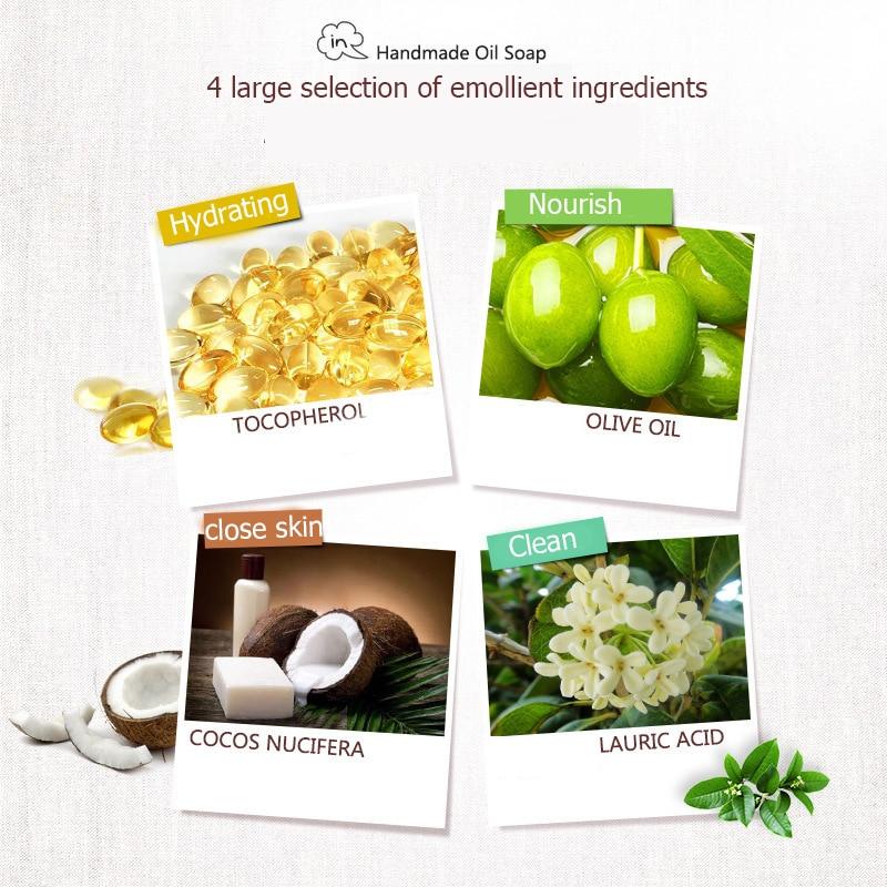 Купить с кэшбэком Organic Matcha Green Tea Handmade Soap Skin Whitening Moisturizing Face Cleansing Soap Remove Acne Cleansing Bath Bar Soap 100g
