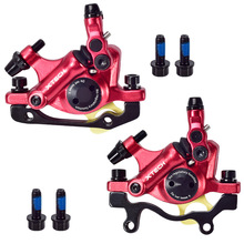 цена на ZOOM Bicycle Hydraulic Disc Brake MTB Mountain Road Bike Bicycle Hydraulic Oil Line Pulling Disc Brake XTECH HB100 Front & Rear