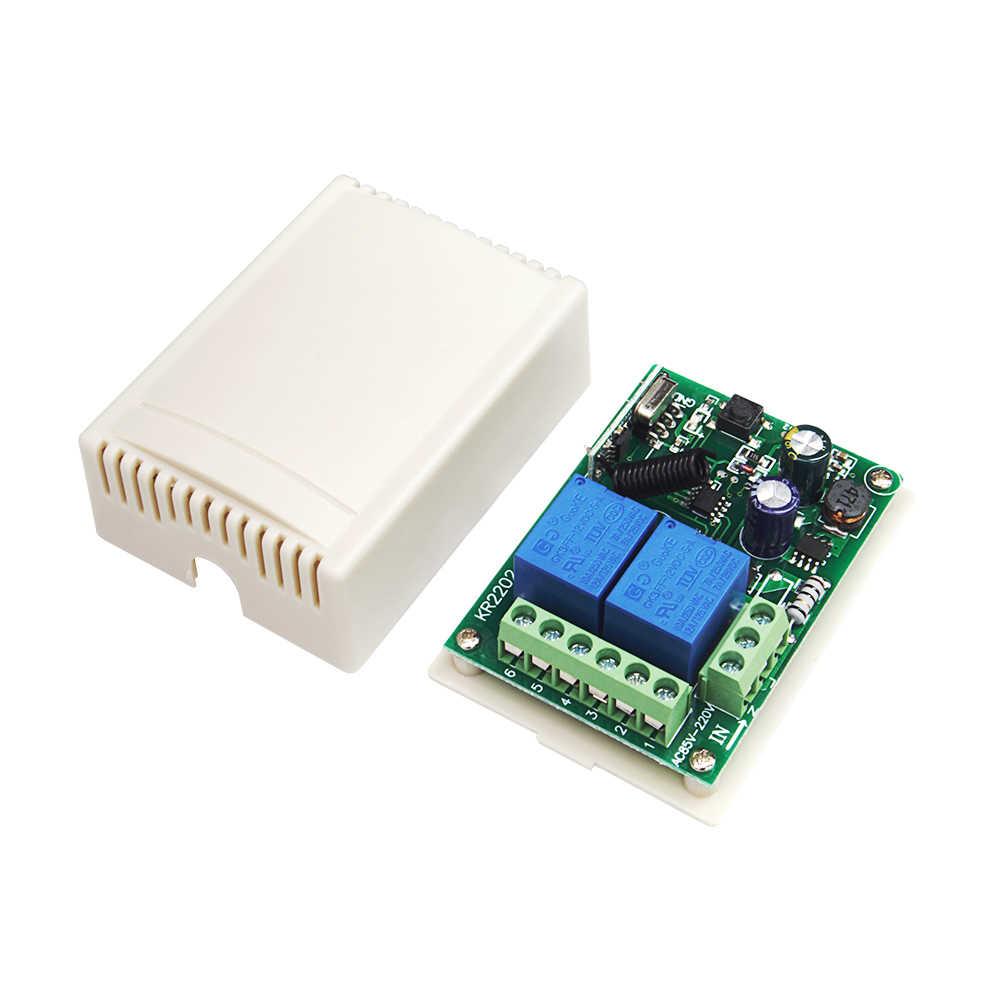 QIACHIP 433 433mhz のユニバーサルワイヤレスリモートコントロールスイッチ AC 110 V 220 V 2CH リレー受信機モジュール + RF リモート送信機 Led ライト