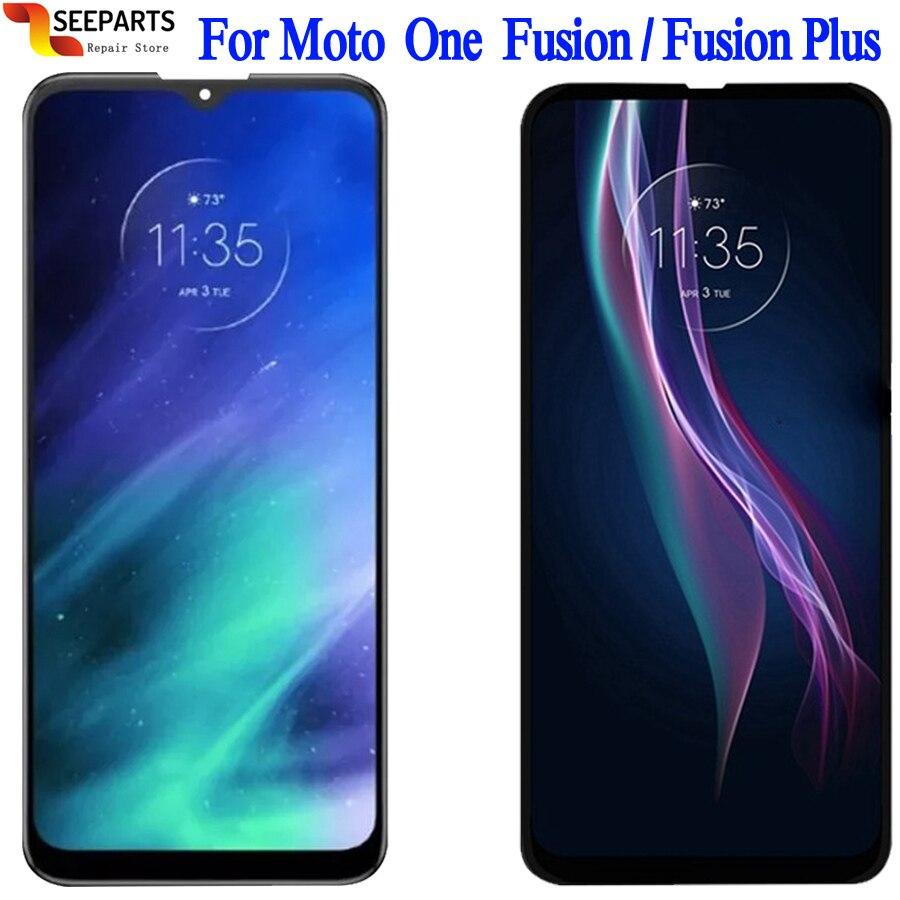 ЖК-дисплей для Motorola Moto One Fusion, сенсорный экран с дигитайзером в сборе для Moto One Fusion +, оригинал