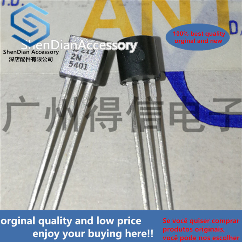 10pcs 100% New And Orginal 2N5401 5401 TO-92 In Stock