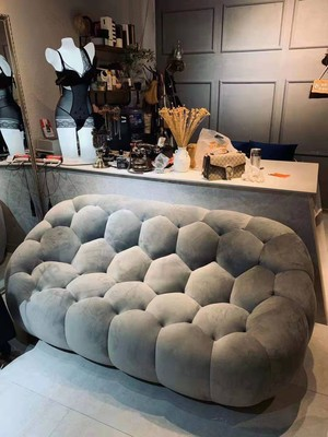 Leisure Sofa Postmodern Contracted Light Luxury Lazy People Bean Bag Small Family Sitting Room Single Double Three Sofa