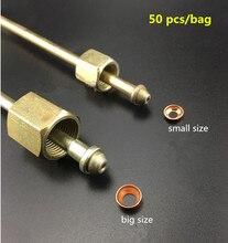 Coussinet en cuivre pour tube dhuile haute pression, 50 pièces, nid, joint conique anti fuite dhuile