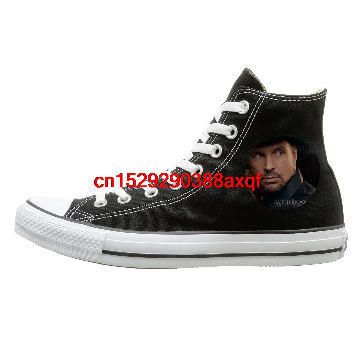 authentic website for discount skate shoes Unisex Garth Brooks The Ultimate Hits High top Sneakers Canvas ...