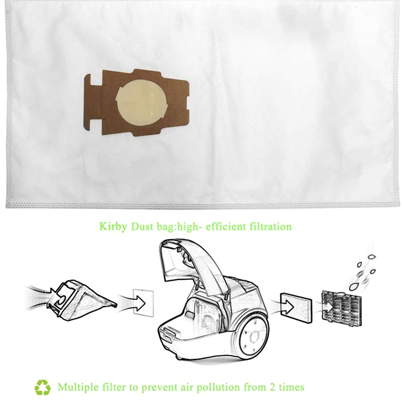 Dust Bag Vacuum Cleaner Assembly for Kirby Sentria 204808 / 204811 Universal F / T Series G 10, G10E Dust Bags for Kirby Sentria