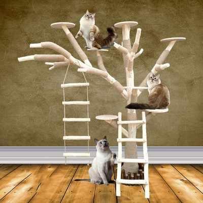 Pet Toys Cat Toys Cat Sports Toys cat running wheel climbing frame cat  climbing wheel cat treadmill|Furniture & Scratchers| - AliExpress