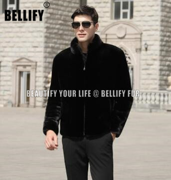 Top Quality Hollyhood Celebrities Male Wholeskins Genuine Mink Fur Jackets For Men Luxury Sable Fur Coats