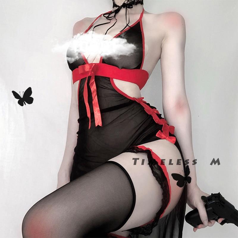 Vintage Vampire Costumes Womens Devil Cosplay Lingerie Lolita Sexy Backless Long Fancy Dress Halloween Party Sleepwear Gifts