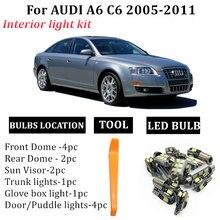 Комплект светодиодных ламп для салона audi a6 c6 2005 2011